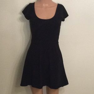 American Eagle Black Fit and Flare Mini Dress